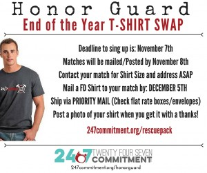 Honor Guard Tshirt swap